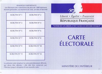 Rappel Inscription sur les listes électorales