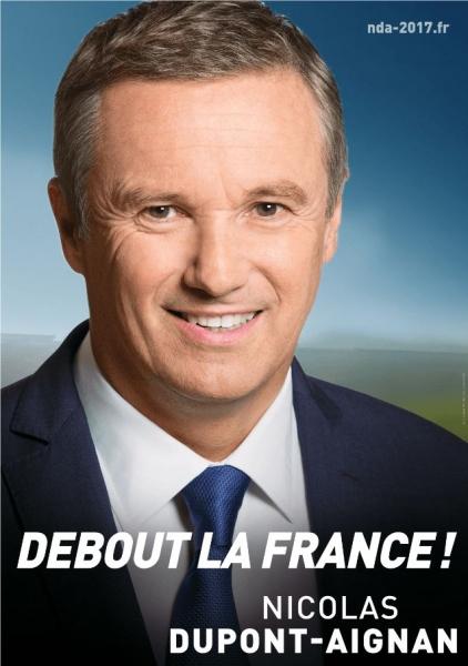 Affiche Officielle de campage de Nicolas DUPONT-AIGNAN