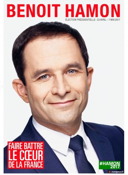 Affiche Officielle de campage de Benoît HAMON