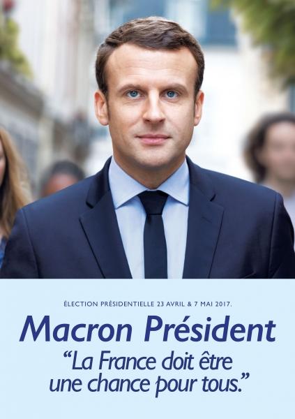 Affiche Officielle de campage de Emmanuel MACRON