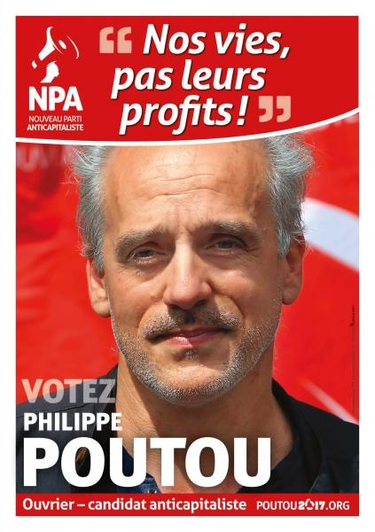 Affiche Officielle de campage de Philippe POUTOU